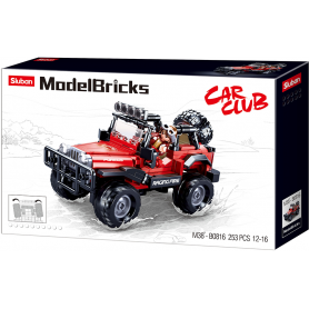 Sluban Model Bricks M38-B0816 Off Road Červený 4x4