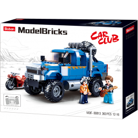 Sluban Model Bricks M38-B0813 Off Road Modrý Pickup s motorkou